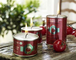 DEKO: Kerzen in Dosen - Rosmarin - Nudeln - Kräuter in Tomatenblechdosen - Zirtronen