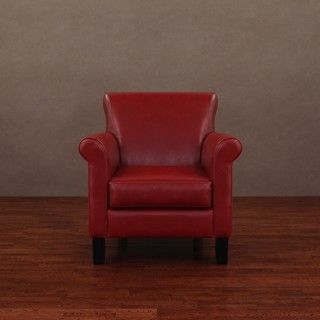 @Overstock - Sit back and enjoy a glass of white wine or a hot cup of coffee in one of these stylish red leather arm chairs. Perfect for any den or office, this contemporary leather chair is a functional work of art, and its contrasting black legs add drama.http://www.overstock.com/Home-Garden/Cosmopolitan-Burnt-Red-Leather-Arm-Chair/2616447/product.html?CID=214117 $374.99