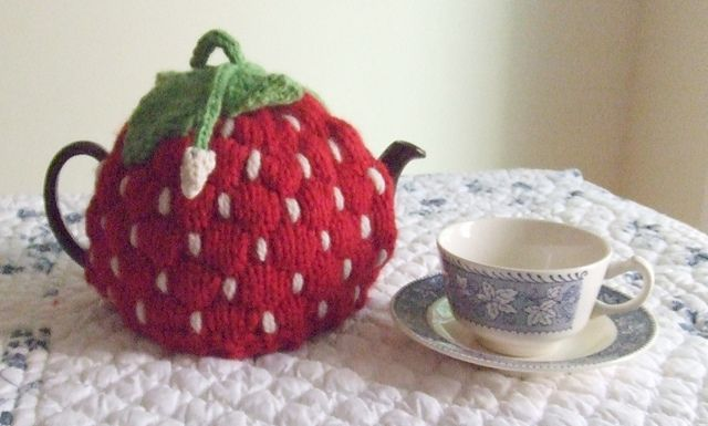 Ravelry: (Spouted) Strawberry Tea Cozy pattern by Dawn Brocco