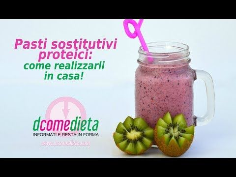 Pasti sostitutivi proteici: come farli in casa! - YouTube