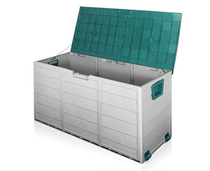 Get Your 290l Plastic Outdoor Storage Box Container Weatherproof Grey Green From Catch Plastic Outdoor Storage Box Plastic Outdoor Storage Outdoor Storage Box