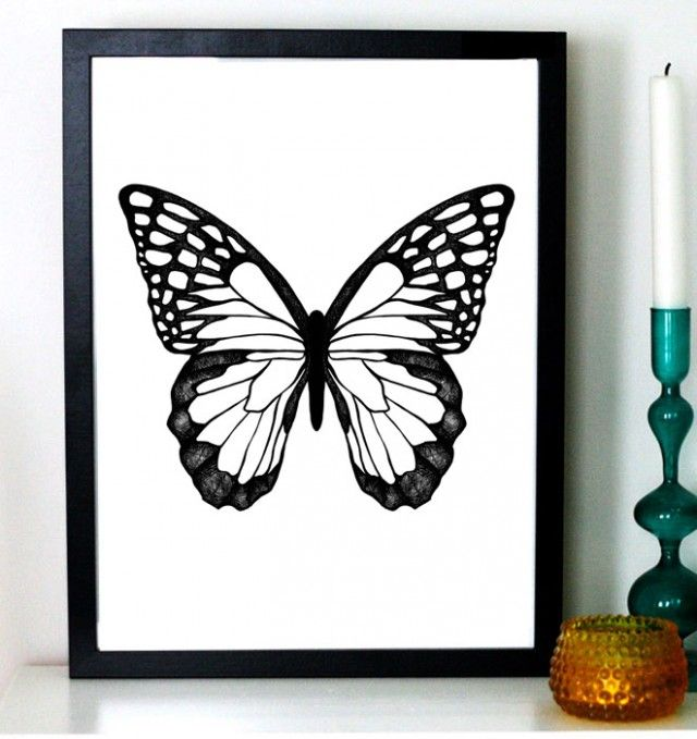 Butterfly, 21x30 cm - Illustration - TAVLOR & POSTERS