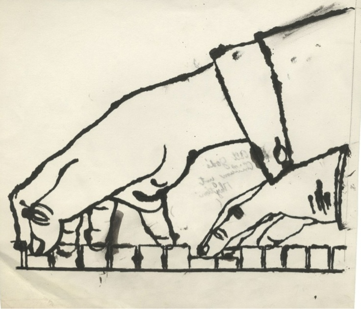Andy WarholeHands Plays, Hands Study, Playing Piano, Artists Photos, Warhol Foundation, Visual Art, Andy Warhol, Drawing Artists, Plays Piano