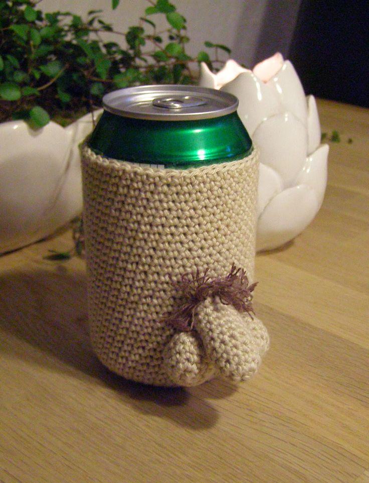 Halager: DIY - Gaven til kvinden: Hæklet cover til øl/sodavandsdåser.