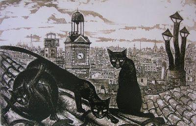 Gatos en terrazas