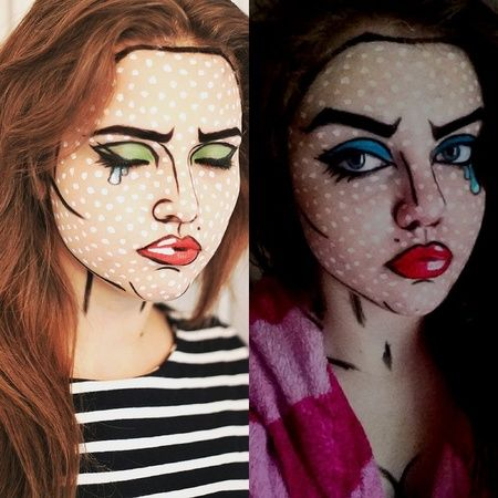 Pop art inspired https://www.makeupbee.com/look.php?look_id=84145 …