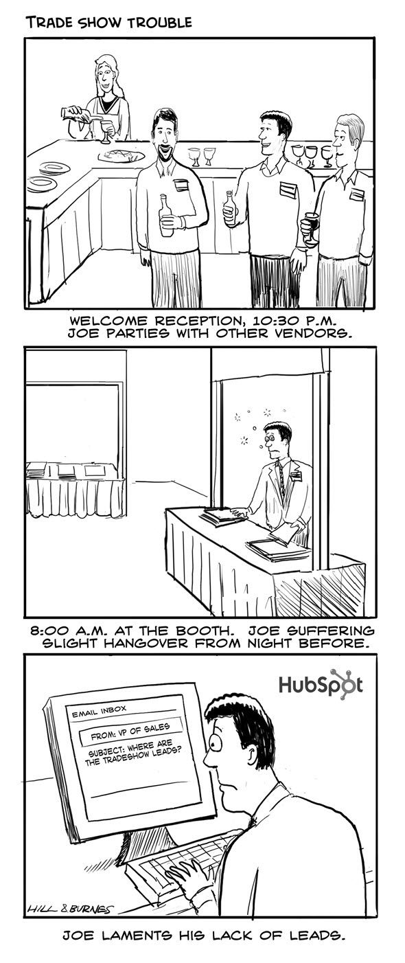 17 best Humorous Cartoons for Trade Shows and Conferences