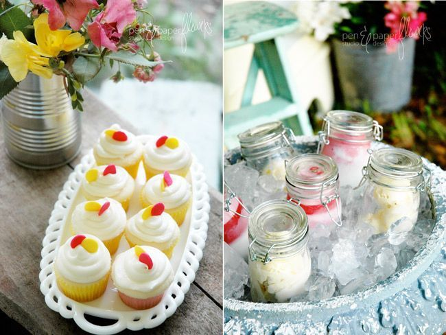 Van Eps- Don't care about the cupcakes, but I think that is ice cream in jars on ice!
