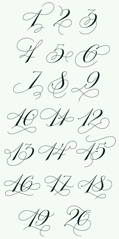 Original Hersteller Schriftarten für Nummern und