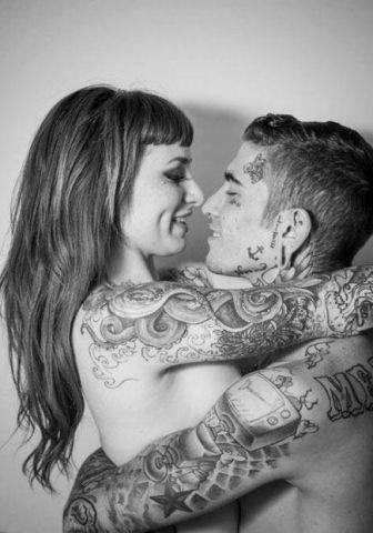 Love this tattooed couple