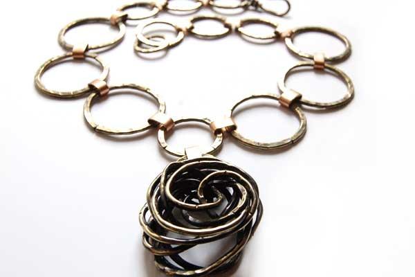 Andrew Clark hammered necklace