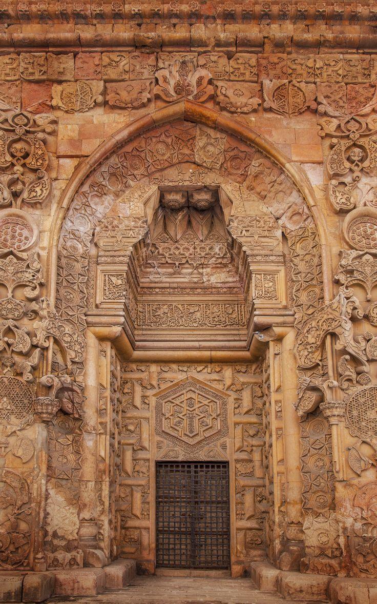 The entrance door of Divriği Büyük Camii also known as Divriği Great Mosque. Divriği is located in #Sivas.