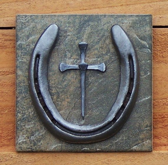 Horseshoe Crafts Horseshoe Nail Cross Wall Hanging By