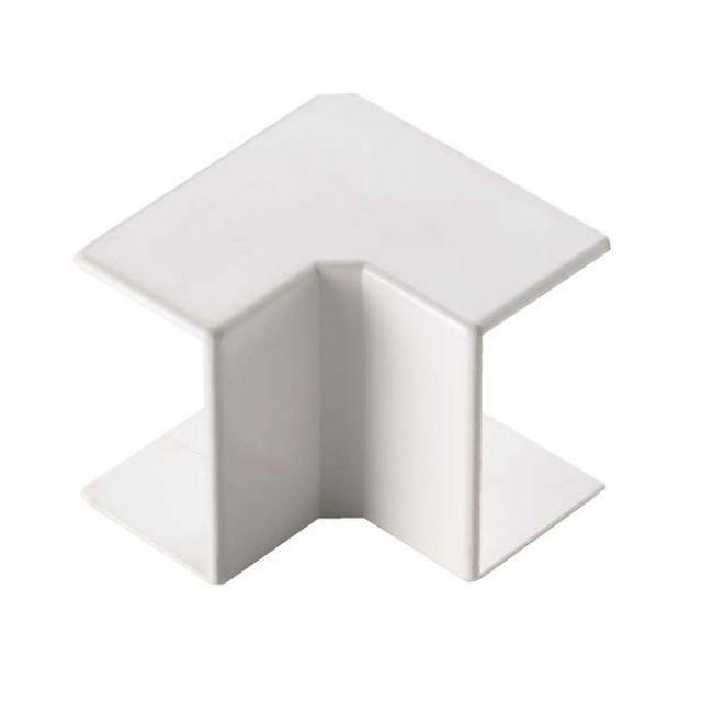Angle int. pour goulotte dim. 60x60 blanc