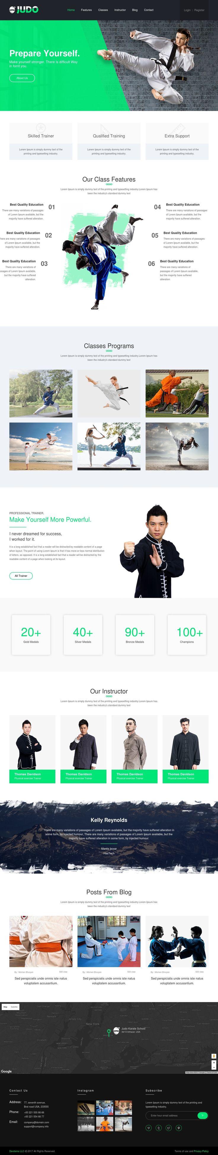 #HTML, #Judo Karate School, #School, #Website, #Concept,