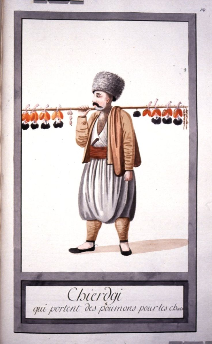 Ciğerci - Illustrations of Ottomans circa 1790 from Costumes Turcs  Source: British Museum
