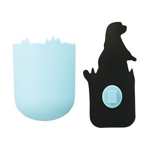 貼り付くプレーリードッグの小物収納ポケット貼り付くアニマル収納小物洗面台鏡aisenアイセン