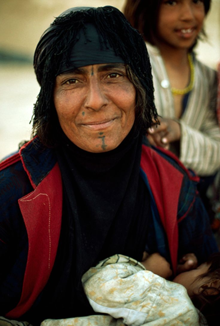 Iraq | A portrait of a Bedouin woman from the Dulayin ...