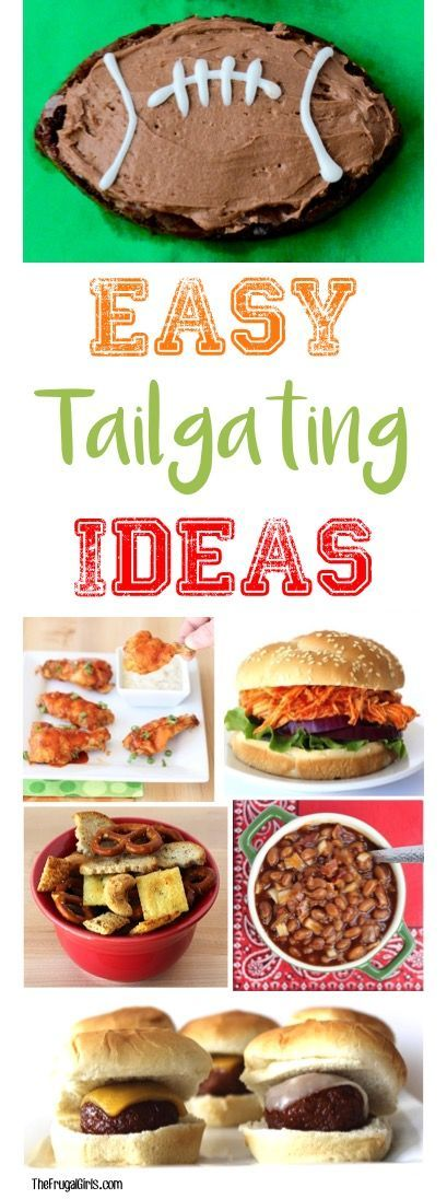 39 Easy Tailgating Food Ideas! The Ultimate Tailgate Recipes for your next Football Party! | TheFrugalGirls.com