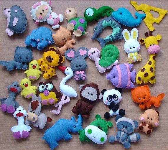 Felt animals 5cm  30pcs von ukrainianall auf Etsy