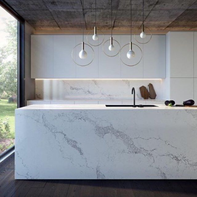 Marble Kitchen Love via /adesignersmind/ ❤️ #dotandpop #kitchen #interiordesign…