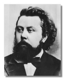 Modest Mussorgsky (1839 - 1881)  Along with Piotr Ilyitch Tchaikovsky, the greatest Russian composer of the Mussorgsky  was born into a wealthy rural, landowning family. He began by picking out on the piano the tunes he heard from the serfs on his family's estate. At the age of six, he began to study piano with his mother.