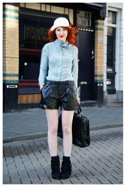 vintage blouse, new short