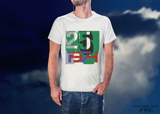 25Ⅳ1974⠐ Tshirt Men by Vítor de Matos