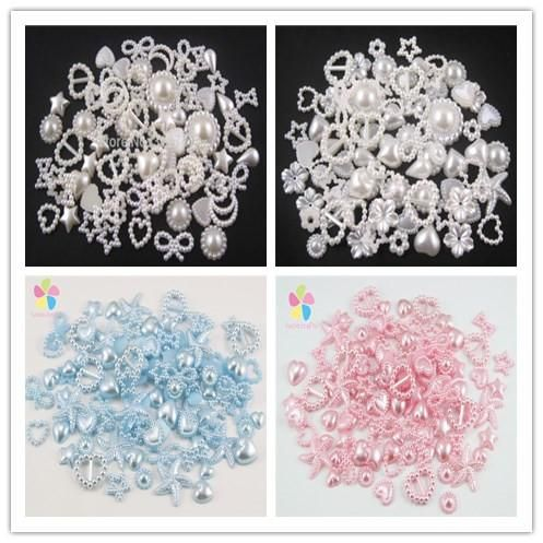 [Visit to Buy] Irregular Flatback Pearl Cabochon Assorted Styles DIY Jewelry  Decoration Accessory 20g (about 100pcs)  15010008(9-20H20g) #Advertisement