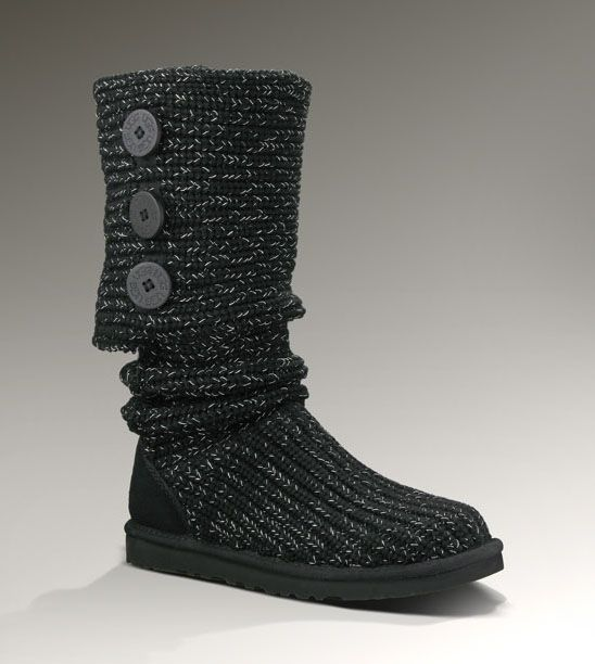 black and silver ugg boots