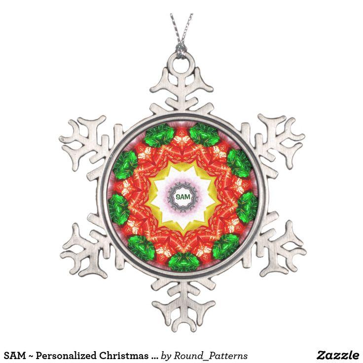 SAM ~ Personalized Christmas Snowflake Fractal ~
