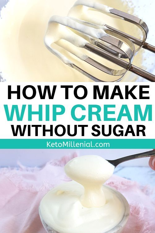 How to make the best sugar free whip cream that's keto, low carb and super del…