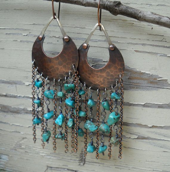 Bohemian Style Mixed Metal and Turquoise by HeidiLeeDesign on Etsy, $79.00