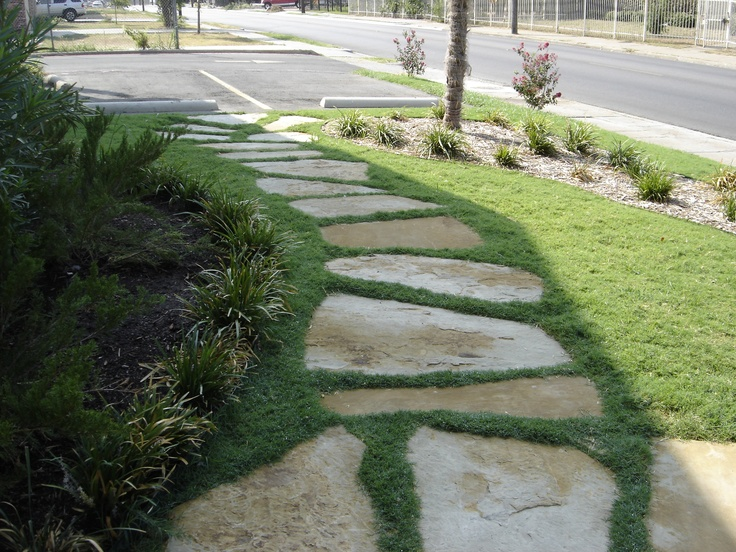 17 best images about landscape paths on pinterest for Stone path in grass