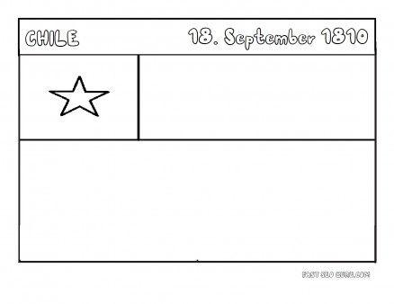 Printable Flag of chile coloring page - Printable Coloring Pages For Kids
