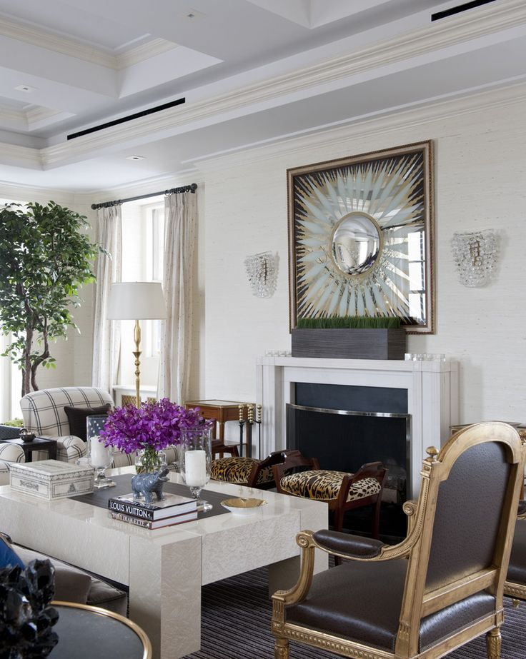 New York City Penthouse Living Room Transitional By Kirsten Kelli LLC