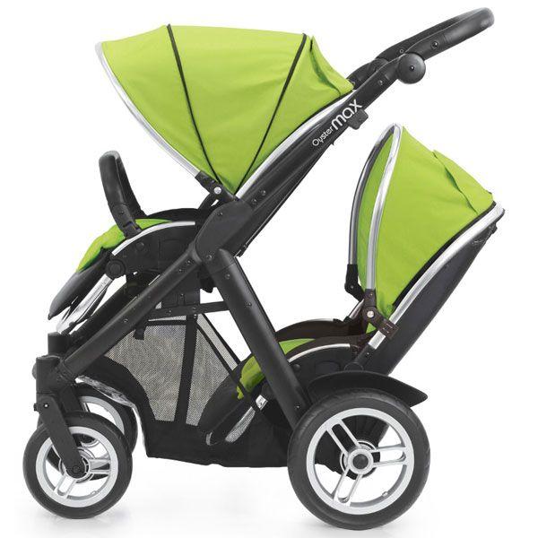Oyster Max Kinderwagen Twin black limeDieser extrem leichte (nur 12,5 kg) Sport- und Kinderwagen bietet ein Höchstmass an Flexibilität. Er kann mit Zubehör als Einzel-, Zwillings- oder Geschwisterwagen genutzt werden. Mit der Oyster-Babyschale oder dem Oyster-Autositz schon ab Geburt. Besondere Merkmale des OysterMax sind: die leichte Handhabung, die schmale Bauweise und die extrem leichte Manövrierbarkeit! Dank der schwenk- und feststellbaren Vorderräder passt er sich spielend den ...