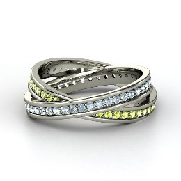 Brilliant Double Rolling Rings, Sterling Silver Ring with PeridotRuby Rings, Double Rolls, Platinum Ring, White Gold Rings, Brilliant Double, Promis Rings, Sterling Silver Rings, Emeralds Rings, Rolls Rings