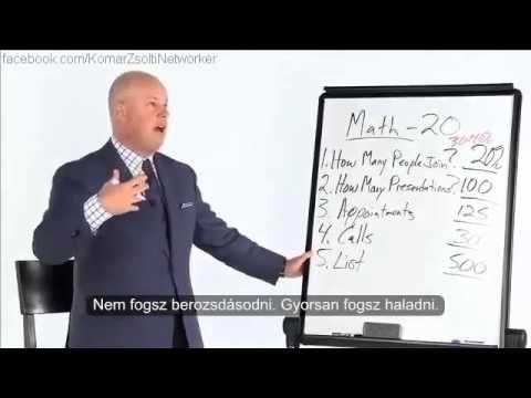 Eric Worre Magyarul  Toborozz 20 embert 30 nap alatt   A  matek  3  rész