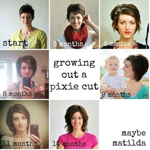 growing out a pixie cut - Click image to find more hair posts