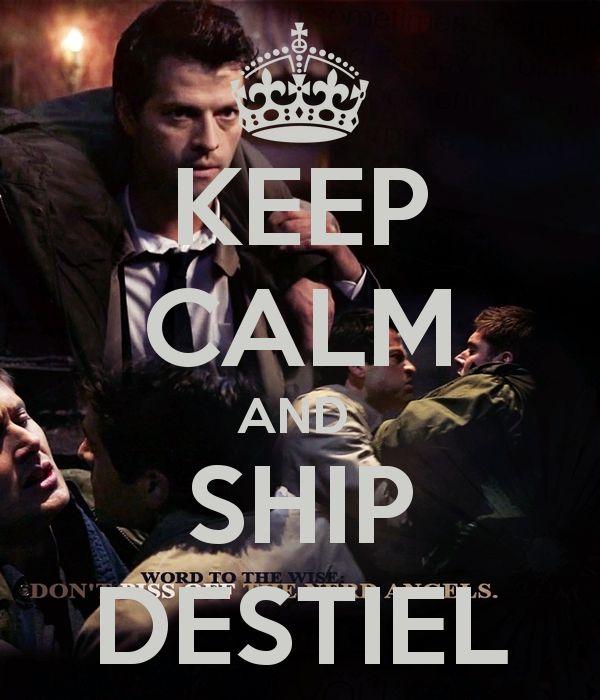 Keep Calm and Ship Destiel - Fangirl - Ship - Destiel