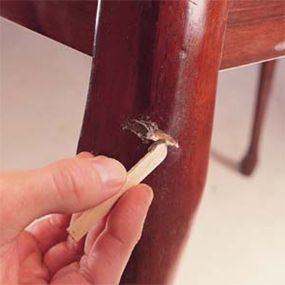 Fast Furniture Fixes  Repair nicks, scratches, dings and dents in your wood furniture.