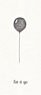 let it go, feather instead of balloon
