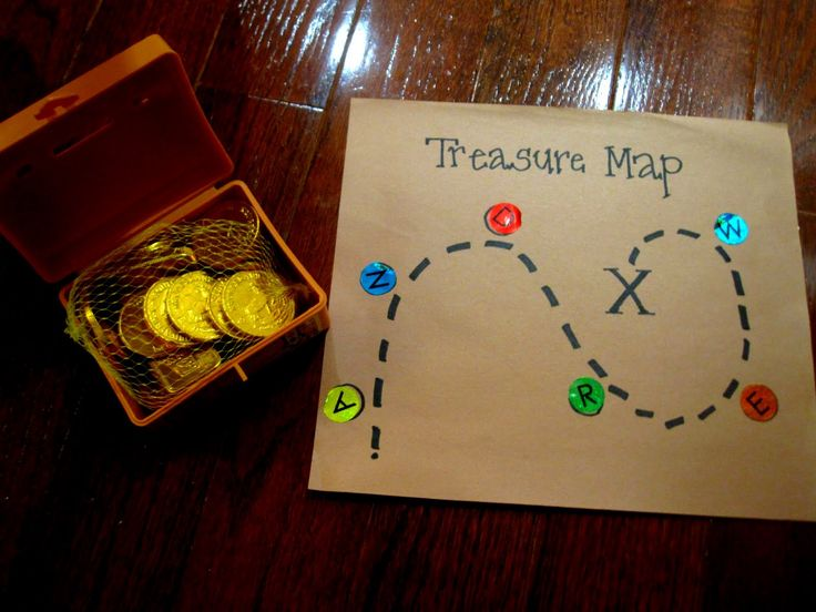 Clever preschool pirate map with fun rhyming clues. Have to do this with the kids this summer!