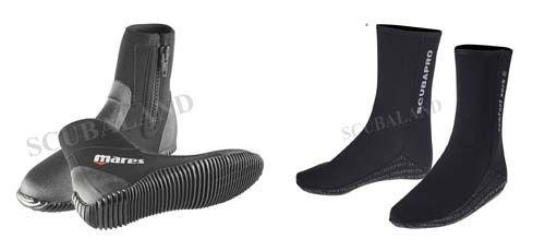 Comment choisir les Chaussons de plongée ? Le plongeur optera soit pour une paire de chaussons en néoprène ou alors pour des bottillons de plongée...