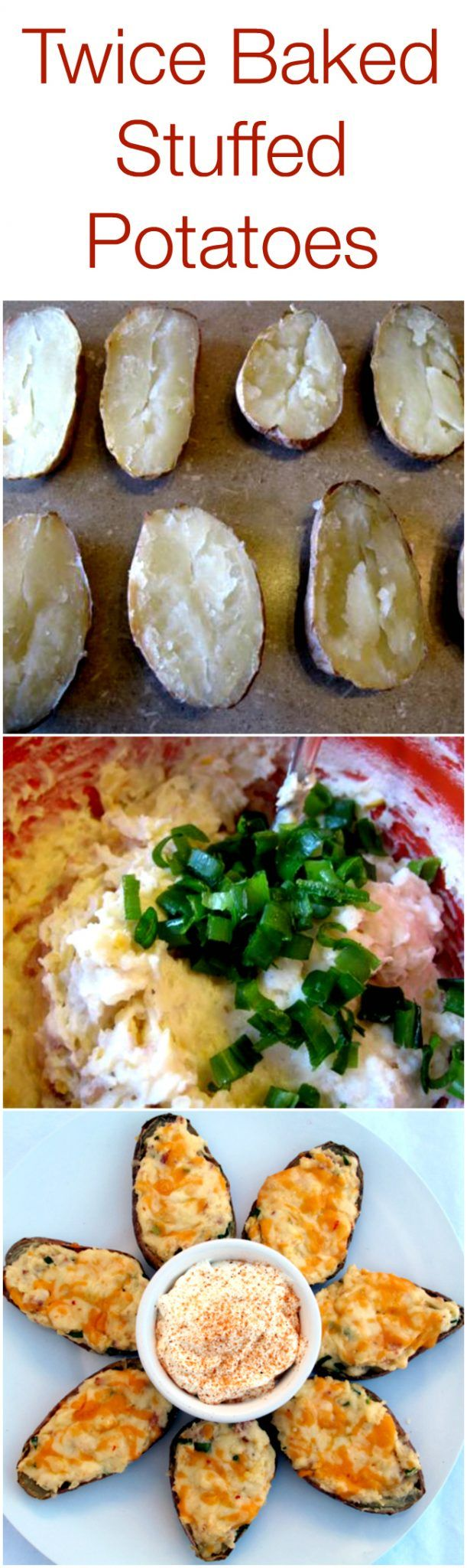 The Absolute Best EverTwice Baked Stuffed Potatoes recipe, with step by step photo instructions!