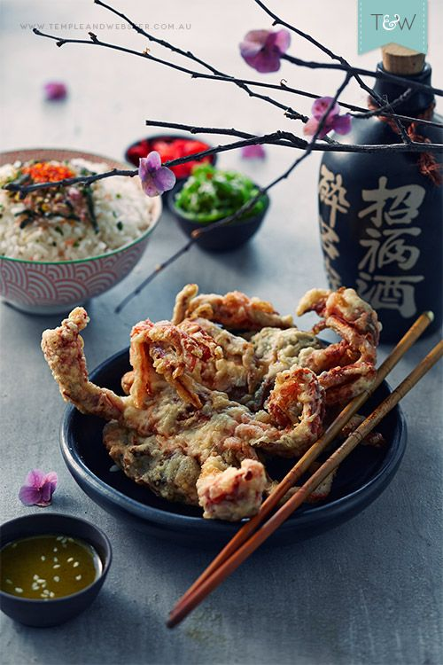 Japanese Soft Shell Crab Tempura with Jalapeno Ponzu Dressing