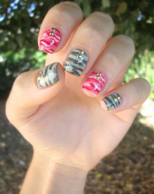 Camo nail art ! #cocosnailss
