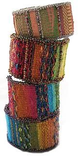 Weaving: Tapestry/Bead Cuff Bracelet Note... Most likely on a Mirrix loom!