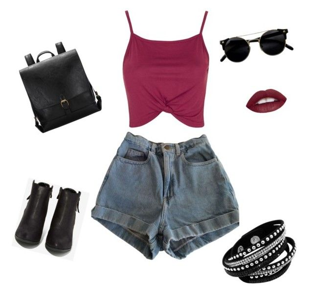 """""""#TemptationUrbanFashion!"""" by kareenleon on Polyvore featuring American Apparel, Topshop and N.Y.L.A."""